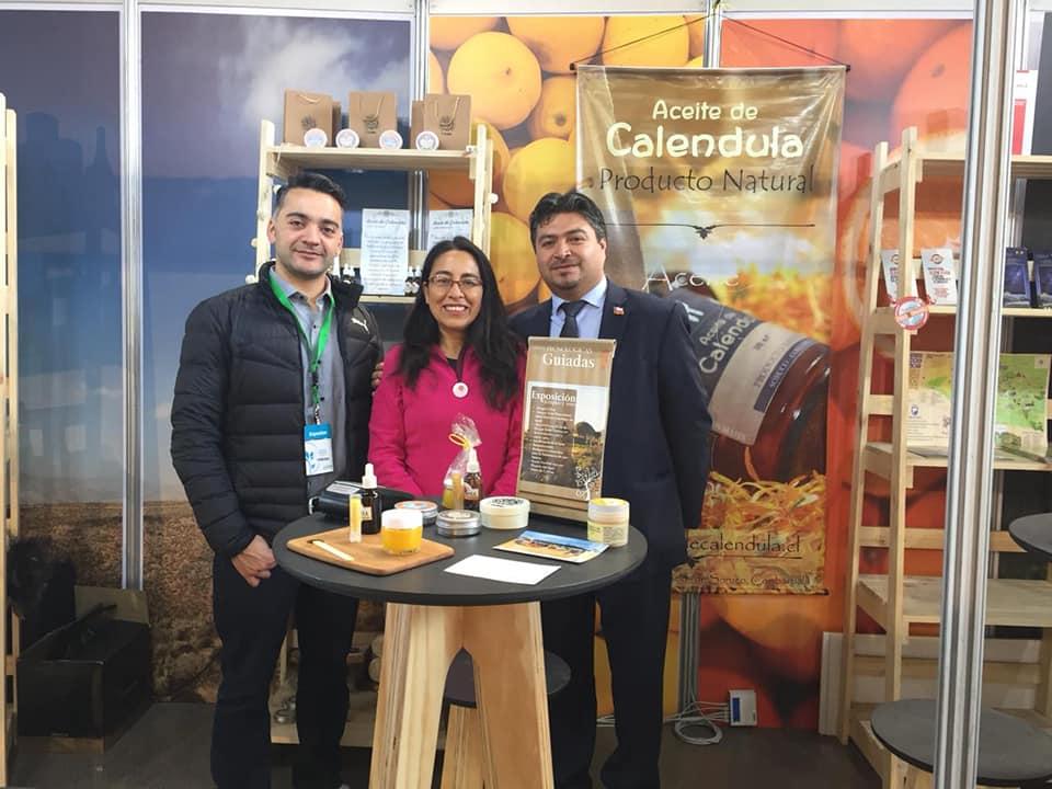 Manquenor y D'Caléndula de Combarbalá en expo Chile 2018 en Santiago. Nuestros emprendedores en las grandes exposiciones.
