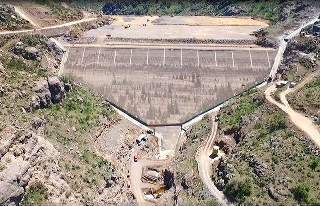 Embalse Valle Hermoso ya esta acumulando agua, algo es algo  julio 2019.