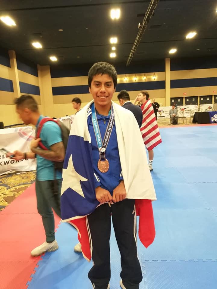 Combarbalino Kevin Contreras gano medalla de bronce en Las Vegas EE.UU. 2019